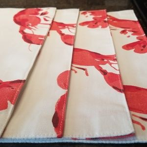 Kate Spade set o 4 Lobster placemats. NEW